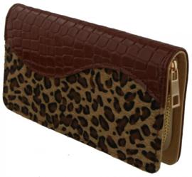 Bruine luipaard portemonnee
