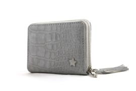 Kleine licht grijze portemonnee met sterretje