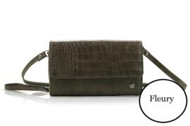 Groene dames portemonnee / tasje Fleury
