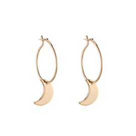 Little Moon hoops  - goud