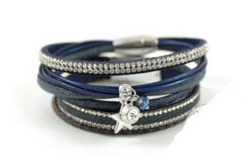 Donkerblauw armbanden set Full Moon