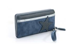 Blauwe portemonnee Kingston