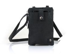 Zwart telefoontasje / crossbodytasje / schoudertasje Kijkduin
