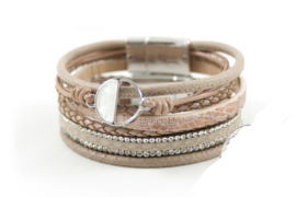 Taupe armbanden set Full Moon