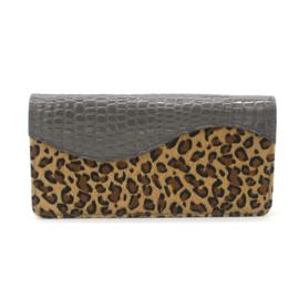 Grijze luipaard portemonnee