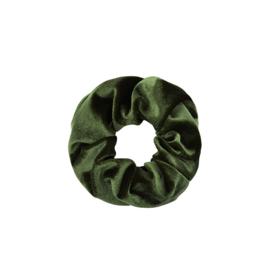 Scrunchie Velvet Donkergroen