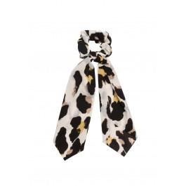 Scunchie met lint - leopard print
