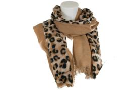 Langwerpige panter sjaal natural