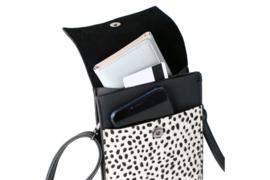 Zwart / wit panter telefoontasje Safari
