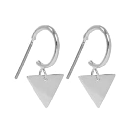 Dangle Triangle oorbellen zilver