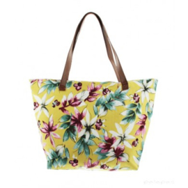 Strandtas/Shopper Tropical - Geel