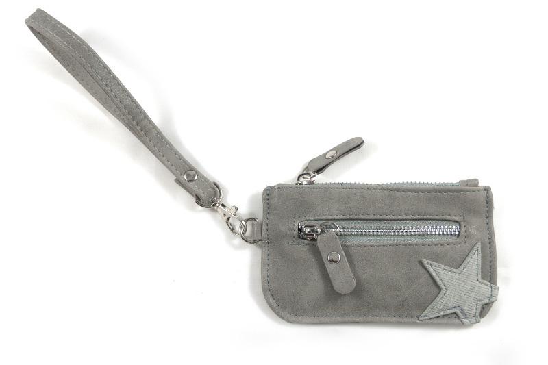 Klein licht grijze ster portemonnee