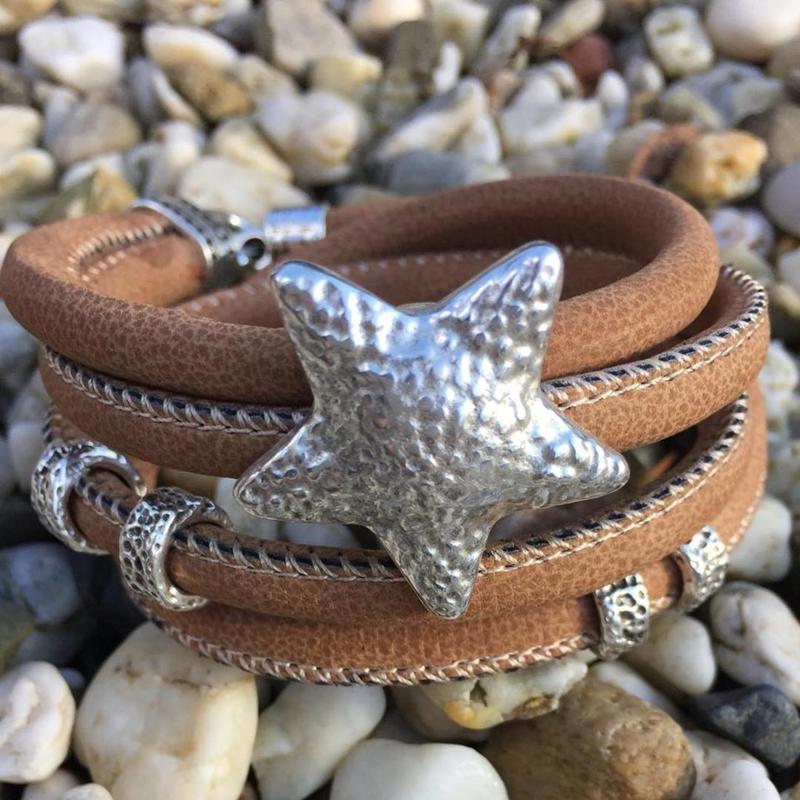 Wikkelarmband Star brown