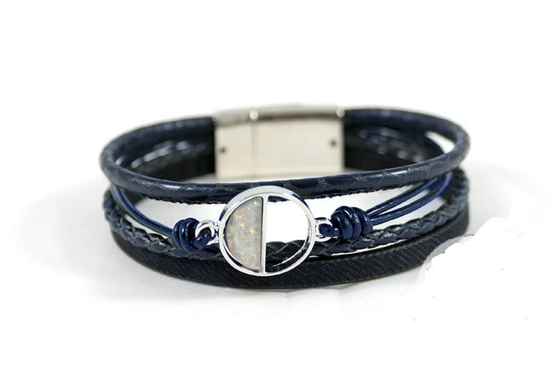 Zwarte sjieke maan armband