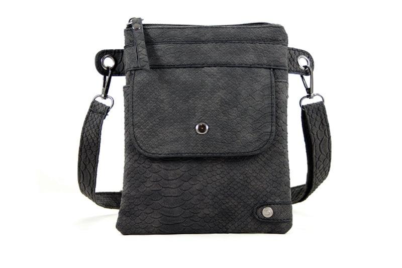 Zwarte heup-schoudertasje Reims
