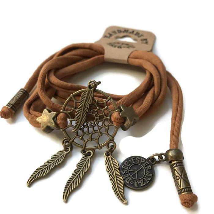 Dreamcatcher bracelet camel