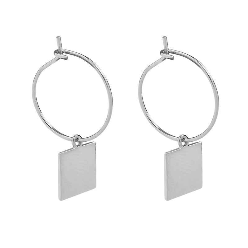 Oorbellen Trend Square zilver