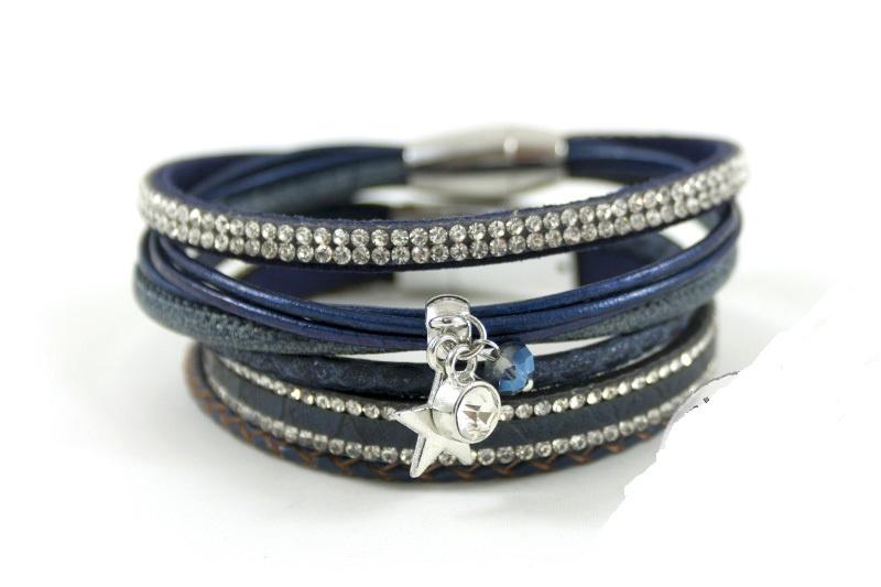 Donkerblauw armbanden set Full Moon