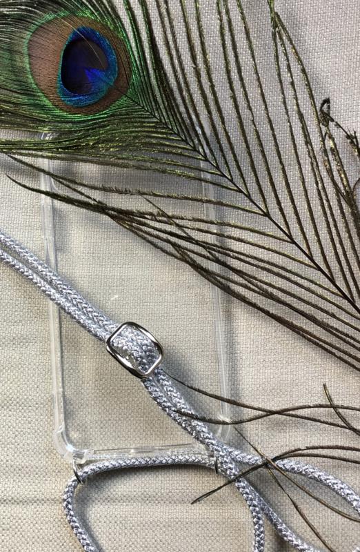 Koord (ketting) voor telefoonhoesje - Zilver - zilver