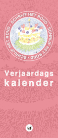 Verjaardagskalender: Mandala Schrijven