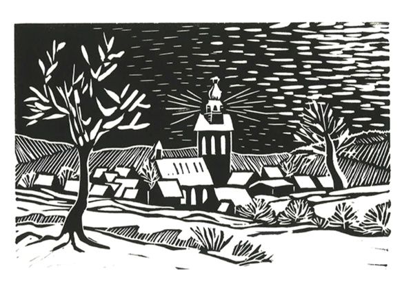 Kerstkaart Mies Grijmans (set 12 kaarten)
