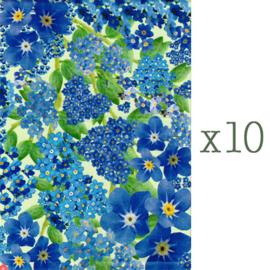 Lazoe decoratiepapier VERGEET-ME-NIET (10 stuks)