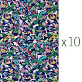 Lazoe decoratiepapier VEREN (10 stuks)