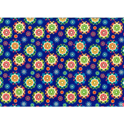 Lazoe decoratiepapier BLAUWE BLOEM