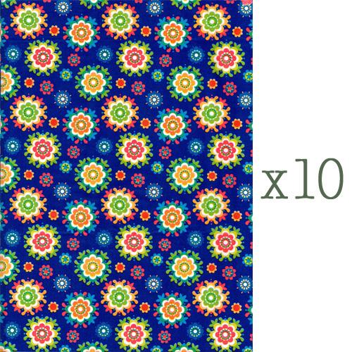 Lazoe decoratiepapier BLAUWE BLOEM (10 stuks)