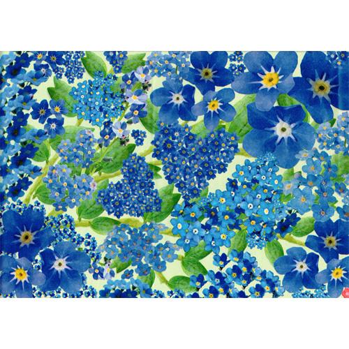 Lazoe decoratiepapier VERGEET-ME-NIET