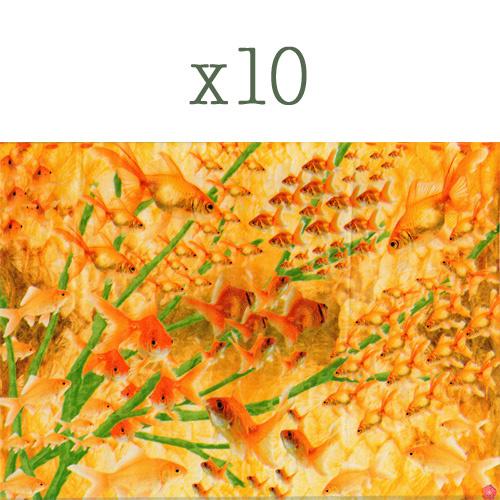 Lazoe decoratiepapier GOUDVISSEN (10 stuks)