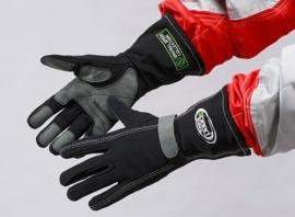 Speed F1-stijl handschoenen ZWART