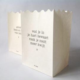Wenskaarsje/-zakje (diverse teksten)