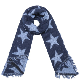 Sjaal Blue Stars