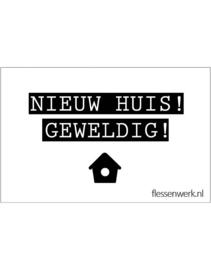 PVC Kaartje | Nieuw huis!