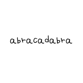 Houtprint | Abracadabra