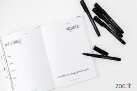 Zoedt Lifestyle invuldagboek