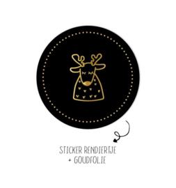 Sticker | Rendiertje | 10 stuks