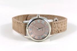 Horloge Croco | Taupe