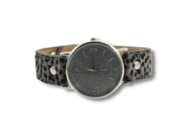 Horloge Leopard | Grijs