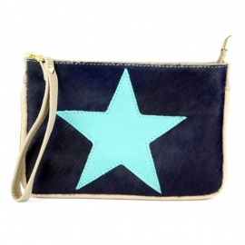 Clutch Mint Star blauw