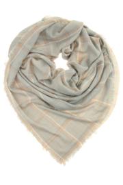 Sjaal Wiska | Lichtgrijs - roze