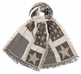 Sjaal Stars Beige