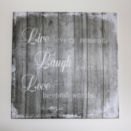 Canvas Live Laugh Love