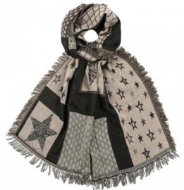 Sjaal Stars Brown