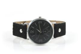 Horloge Leopard | Zwart