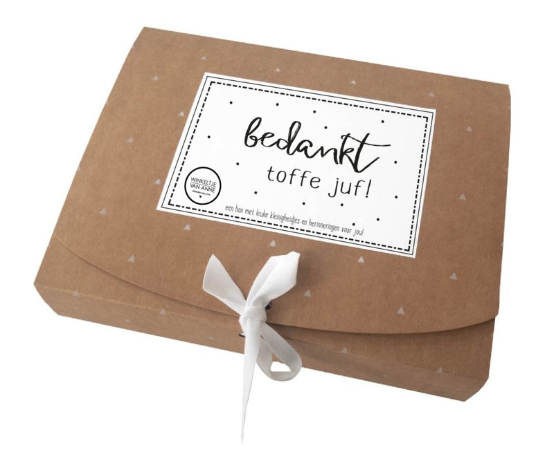 Giftbox | Bedankt toffe juf!