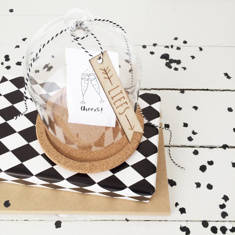 Houten cadeaulabel | Liefs