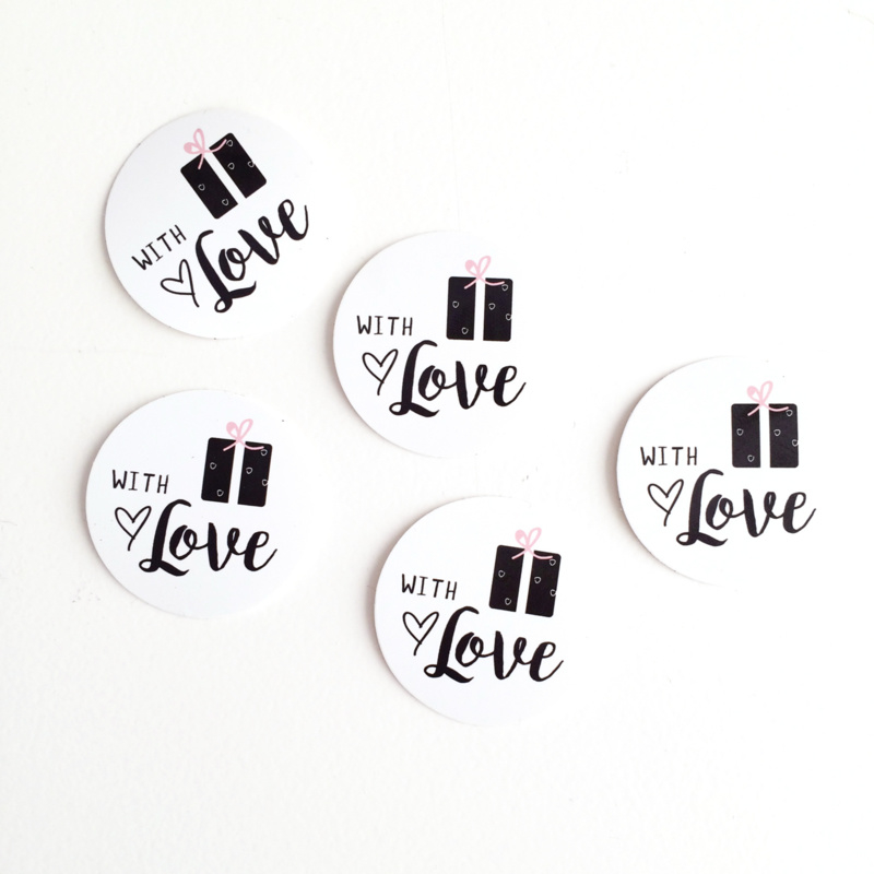 Stickers | With Love per 5 stuks