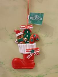 Kerstboomhanger Ginger Bread Christmas Sock